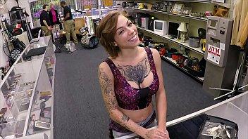 xxx pawn - tattooed sany leon xxx com babe harlow harrison gives pawnshop owner a hard time