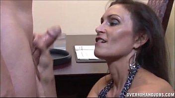 m cliphunter com brunette milf strokes a boner