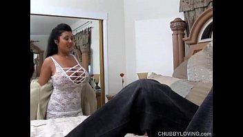 x vedio com super sexy busty latina bbw is a very hot fuck and loves facials