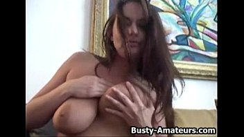 busty leslie masturbates her pussy with xxxxx toy after interview