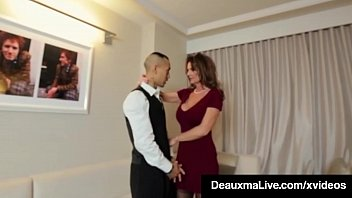 horny cougar babe deauxma fucks room service anime forced porn guy in hotel