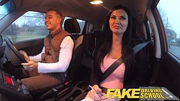 fake driving school exam deshi sex failure ends in threesome double creampie