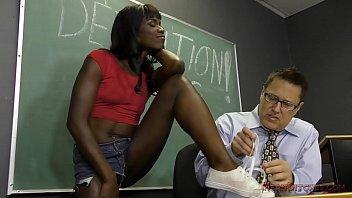 black student seduces virginsex her teacher into becoming her slave- ana foxxx femdom
