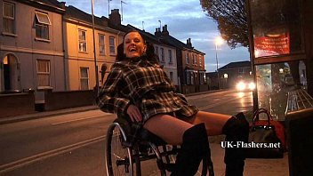 xxxx hot photo leah caprice flashing nude in cheltenham from her wheelchair