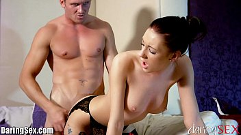 daringsex sexy vidos big tits brunette passionately fucked