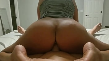 xxzx big brown ass milf rides reverse cowgirl and cums all over his white cock