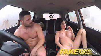 fake driving school lucky young lad seduced by indiajoin nude his busty milf examiner