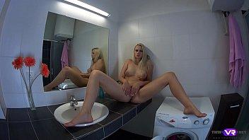 tmwvrnet.com - katy sky - blonde orgasms on xxx viodo com bathroom sink
