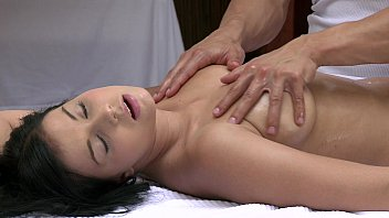 orgasms beautiful young girl has her sexy body massaged wife forced blowjob and pleasured by hot guy