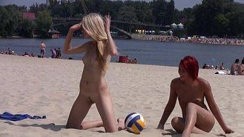 this teen www hot sex videos com nudist strips bare at a public beach