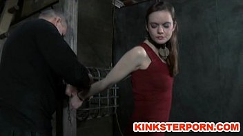 slave hazel boob sex chained and whipped