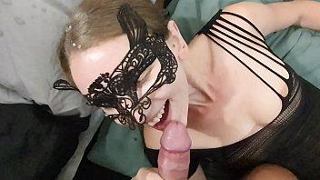 sexy xnxxxxxxxxx hotwife sucking dick and getting a huge facial