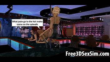 two foxy 3d cartoon sex vldeo stripper babes getting fucked