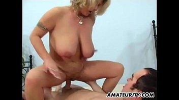busty amateur mom sucks xxn xom and fucks with facial