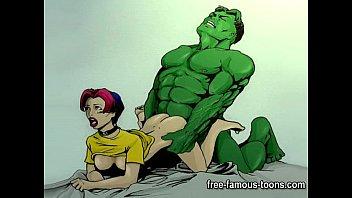 famous cartoon superheroes 3gpkings porn parody