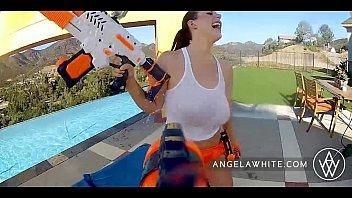 angela white - angela white and dani daniel fuck indian saxy video each other outside