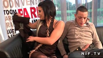 dark haired french babe with xxxxa shaved pussy anal fucked for her casting
