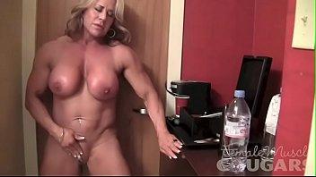mature female bodybuilder poses xxxx vido and masturbates