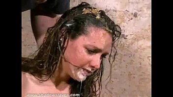 kiss fuck filthy trash humiliation of messy degraded slaveslut emma louise in dirty food