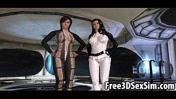 two sexy 3d cartoon babes getting fucked on man fucking girl a spaceship