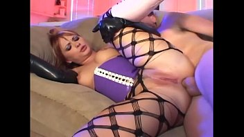 redhead in fencenet pantyhose and xxx arab latex gloves