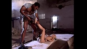 blonde lady wildly fucked by a black in an triple sex triple sex abandoned house