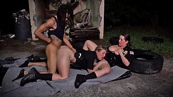 black patrol - milf cops with big xxnxvideos tits and thicc asses riding criminal s big black cock