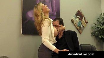 adult award hd sex vedio winner julia ann drains a cock with hot handjob