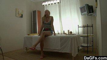 blonde xxx sexy hot video teen gets way more than a massage