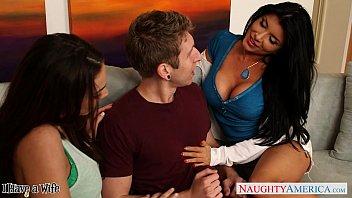 naughty babe romi rain share a pornhuib big cock with a lesbian