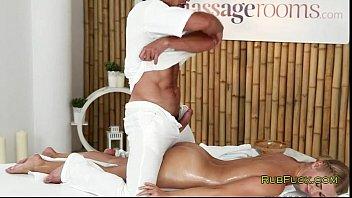 blonde wanks dick to sister fucking older masseur