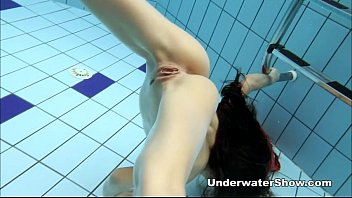 blue flim anna - nude swimming underwater