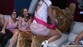 bachelorette party virgin xxx goes crazy for the bear db14088
