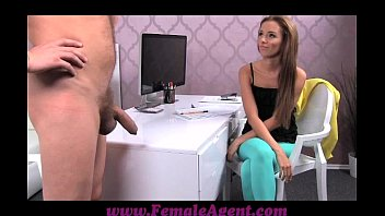 femaleagent big cock delivers creampie present be xxxx after casting fuck frenzy