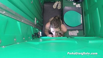 porta gloryhole sucking eating pussy dick in public 4 1st time
