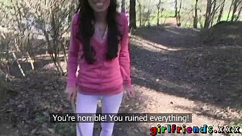girlfriends eat pussy and nudeteen make a sextape in the woods