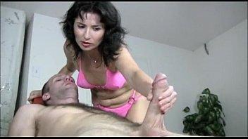 naughty milf gives a sex pornd handjob massage