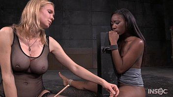 lezdom rain degrey captures ebony girls without clothes with boys reporter chanell heart