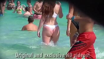 sneaky mom 3 must see teen pawg in a thong bikini on the beach in public