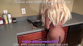 horny step brother peeking at step sister naked sex fuck cleaning blackmails ass worship