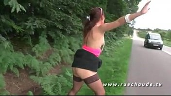 girl and boy sex girl fucked outside on card