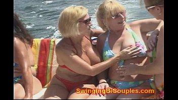 8 horny bi xxxxxxxxxxxx milf wives on a boat