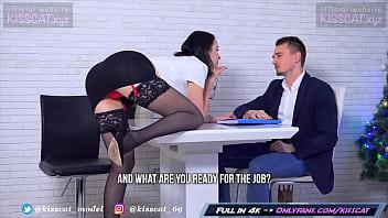 www bf kisscat job interview through dp hard ass fuck with anal orgasm
