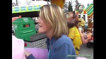 cute chick rides xxx vibeo tool in fun park