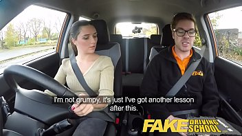 fake driving school little english teen gets fucked after sex videp her lesson