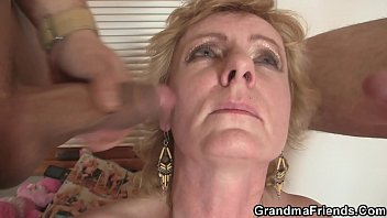 sxxe two delivery men bang old lady