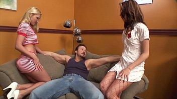 2 nurses help treat a man porn con with viagra dick