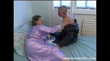 bald xcxxx young guy fucks his granny
