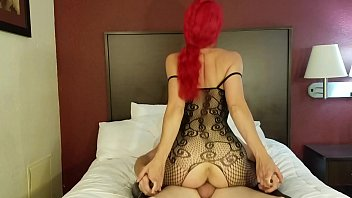 hustler nudes redhead rides cock in lingerie