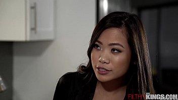 slutty asian step sister vina sky seduces sunny leone sex pic horny step-bro in kitchen